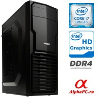 Компьютер AlphaPC AG-170010 Intel Core i7 8700 3200 МГц / Intel B360 / 4 Гб DDR4 2400 МГц / Intel UHD Graphics 630 (встроенная) / без SSD / без HDD / без DVD-RW / 500 Вт / Mini-Tower / без ОС